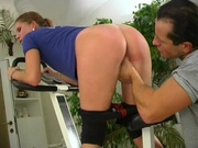 Fitness instructor fucking a girl