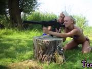 Naked women with guns