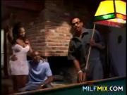 Ebony Slut Fucking At The Bar