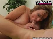 Fat Blonde Chick Fucked In The Face And Pussy