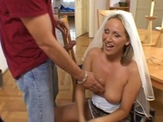 Horny euro girl fucking before the wedding