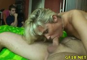 Stranger takes off his trunks and begins banging luscious always cock-craving pussy