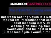 Allison auditions for Backroom Casting Couch