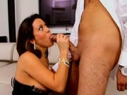 Big breasted wife recieves hard pussy pounding