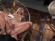 Hottie gets fucked in torture chamber