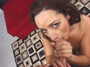 Mommy with huge rack banged on sofa