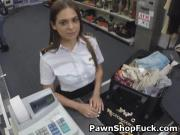 Latina Sucking Dick Behind The Counter In A Pawn Shop