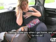 Busty amateur blonde slut fucked on the hood of the cab