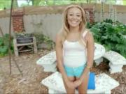 Blonde beautyTinslee Reagan pleases jumbo black dick