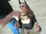 Pretty girl gets face pussy and ass abused