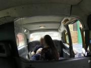 British babe anal banged in fake taxi