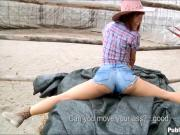 Sexy cowgirl Tina Hot riding a hard cock