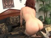 Redhead mom masturbates alone