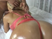 Sexy wife gives a nasty blowjob after sex