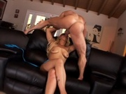 Saggy titty girl fills her box with meaty cock