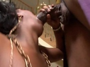 Amateur black girl fucked in costume party