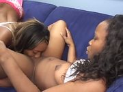 Black lesbians using toys to satisfy each other