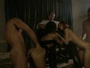 Kinky girls handling swinging partners in this orgy