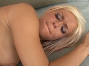 Stunning blonde babe poked by black horse cock