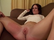 Housewife handling two brutal cocks
