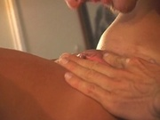 Hot blonde chick creamed in the ass