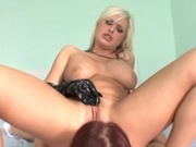 Alluring babes having hardcore lesbian sex