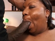 Plumpy black woman stuffed by a big cock