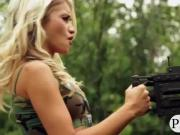 Watch outrageous stunts of busty babes
