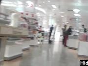 Tight Black Leggings At A Mall