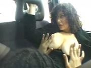 Horny couple having sex in the car