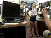 Cutie blonde babe fucked by pawn keeper