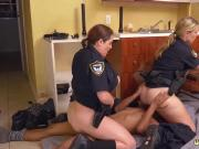 Big boobs police Black Male squatting in home gets our mummy officers