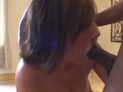 Beautiful chick poked by two black cock