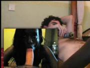Choco hooker eats and fucks big white cock