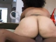 Brown woman with fleshy ass gets pounded