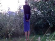 French couple fucks outdoors