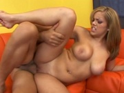 Sexy latin babe enjoying multiple orgasm