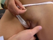 Hot asian pornstar gets fucked in the office