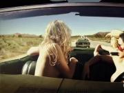 Sexy naked playmates wrecking cars in demolition derby