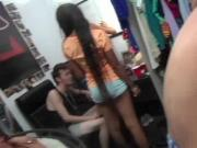 Nasty college gangbang at a dorm room party