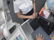 Sexy Latina Stewardess get fucked