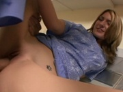 Skinny girl fucks cock that hardly fits her pussy