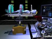 3D redhead sucks cock and gets fucked by an alien