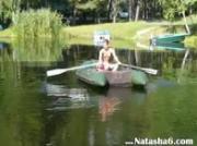 Amateur german Natasha in the boat