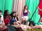 Cfnm real amateur femdom handjob girls