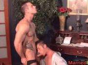 Straight and married dude gets his first gay anal 16 by MarriedBF