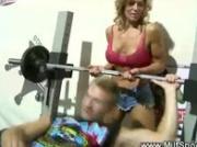 MILF seduced at the gym