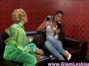 Classy glamorous stocking lesbians