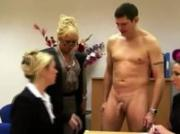 Clother office freaks making cock spunk