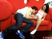 Horny couple begins with kissing